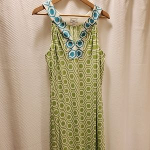 Cute Lime Green and Turquoise Dress